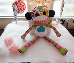 "12"" Calavera the Sugar Skull Monkey Doll (fat quarter)"