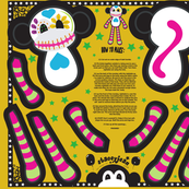 "12"" Calavera the Sugar Skull Monkey Doll (fat quarter)"