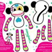 FAT QUARTER - Calavera the Sugar Skull Monkey Plush Doll