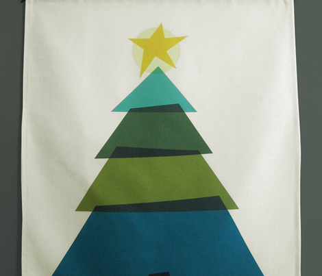 One Yard Christmas Tree Wall Hanging