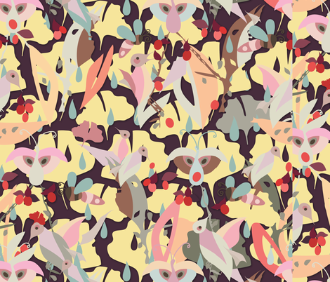Drop-a-Leaf fabric by lisa_rivas on Spoonflower - custom fabric