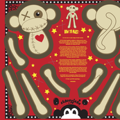 "12"" VooDoo Monkey Plush Doll (fat quarter)"