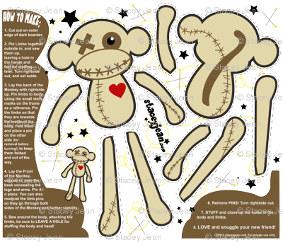 FAT QUARTER - Obeah the VooDoo Monkey Plush Doll