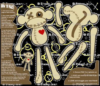 FAT QUARTER - Obeah the VooDoo Monkey Plush Doll
