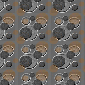 Dusty Disks on a Gray Grid