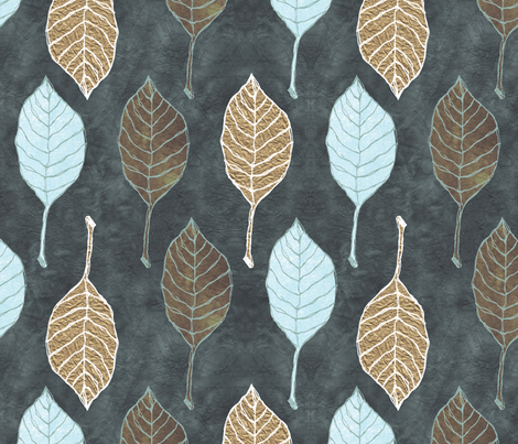 Leaves Fall fabric by cosecreative on Spoonflower - custom fabric