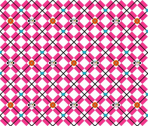 Sugar Skull Argyle fabric by staceyjean on Spoonflower - custom fabric