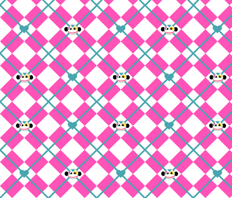 Sugar Skull Argyle fabric by staceyjean on Spoonflower - custom fabric