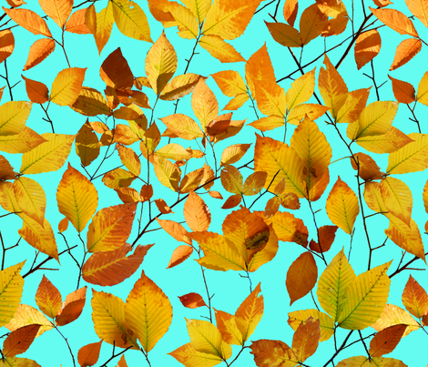 Maine Autumn Leaves fabric by patricia_shea on Spoonflower - custom fabric