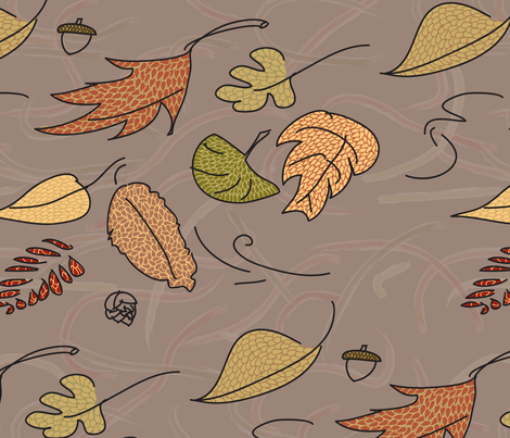 Breezy Leaves fabric by dahbeedo on Spoonflower - custom fabric