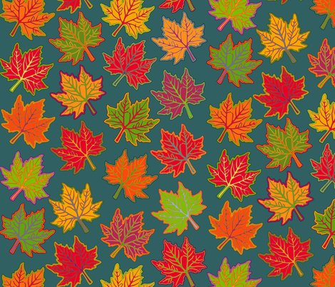 Rautumn_leaves_on_orig_teal_color_fixed_2_shop_preview
