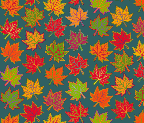 Bright Autumn fabric by selenaanne on Spoonflower - custom fabric