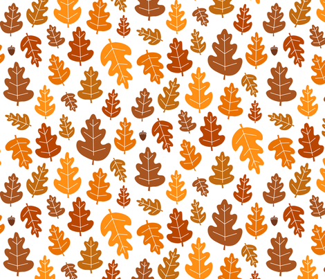Leaf, Leaf, Acorn fabric by jenimp on Spoonflower - custom fabric