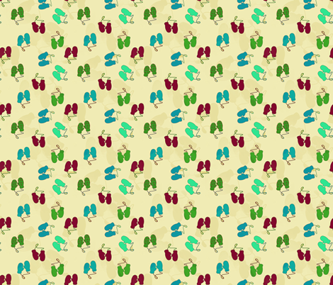 Ditsy Mittens fabric by arts_and_herbs on Spoonflower - custom fabric