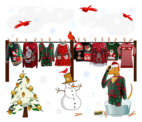 UGLY SWEATERS LAUNDRY DAY fabric by bluevelvet on Spoonflower - custom fabric