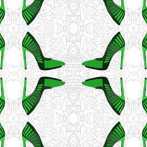 Green psychedelic pumps