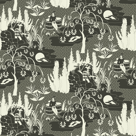 Unfortunato in Brown fabric by mag-o on Spoonflower - custom fabric