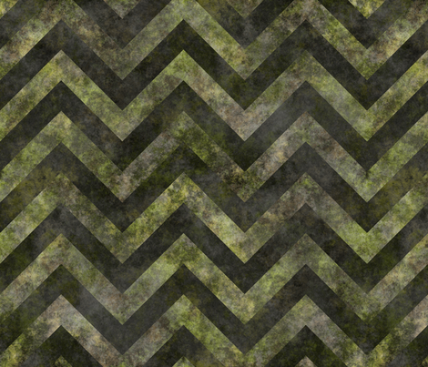 Splotchy chevrons green and gray