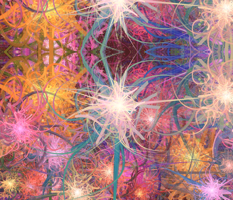 coral fabric by jennifurryrabbit on Spoonflower - custom fabric