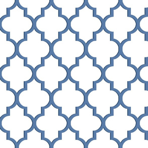 Nautical Blue Dimensional Quatrefoil
