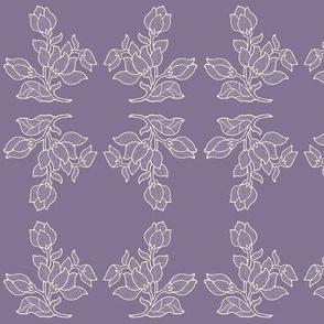 Small batik-style flower - grey-violet267 - mirrr