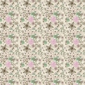 Small Wild Floral Pastel Print