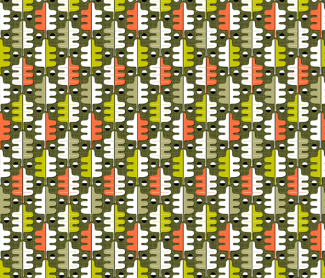 Oakhurst (Midi Green) fabric by pennycandy on Spoonflower - custom fabric