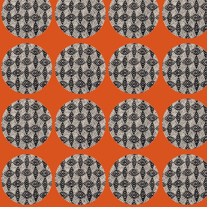 Woven dots for sofa 2-ch