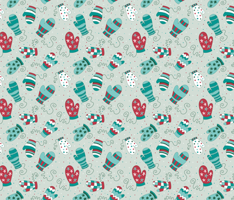 Missing Mittens (Festive) fabric by brendazapotosky on Spoonflower - custom fabric