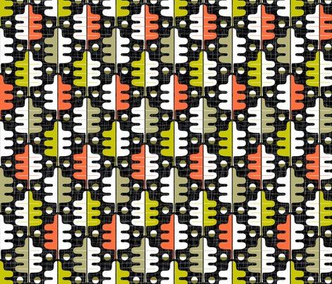 Oakhurst (Midi Black) fabric by pennycandy on Spoonflower - custom fabric