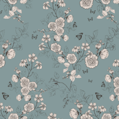 Scented Garden Wallpaper Jade