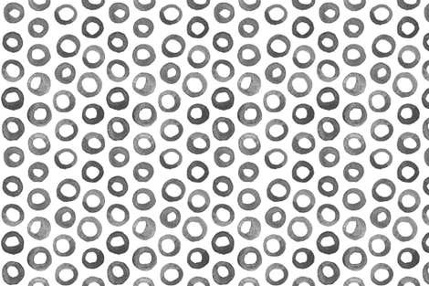 Grey Watercolor Circles fabric by katebutler on Spoonflower - custom fabric