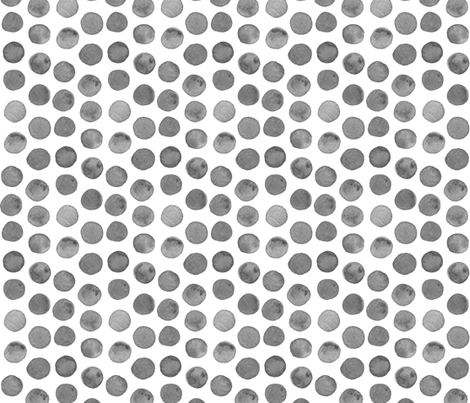 Grey Watercolor Dots fabric by katebutler on Spoonflower - custom fabric
