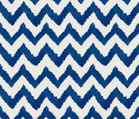 Navy Ikat Watercolor Chevron fabric by sparrowsong on Spoonflower - custom fabric
