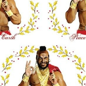 "T-mas ""Peace on Earth"" wrapping paper"