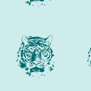 Tiger_dot_ Green and Aqua