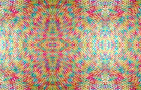 Custom Knit Fabric : Rainbow knit fabric - swishgirl - Spoonflower