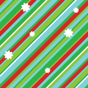 Christmas Stripe with Flakes