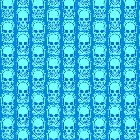 Ditsy Skull Cool fabric by jadegordon on Spoonflower - custom fabric
