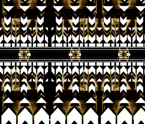 Tribal X-Ray fabric by sparkpilot17 on Spoonflower - custom fabric