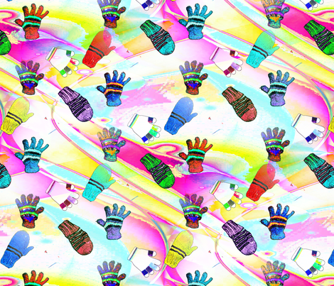 mittens fabric by farrellart on Spoonflower - custom fabric