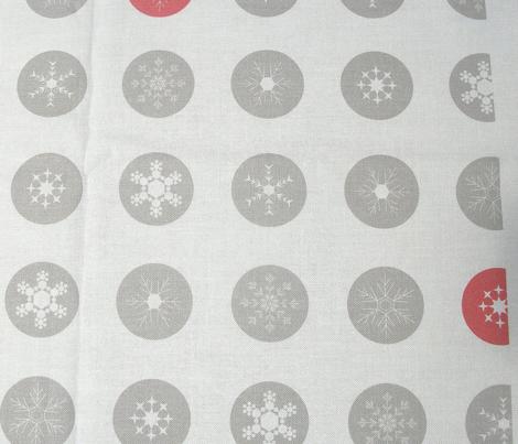Snowflake Polka Red Spot
