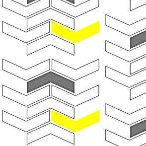 Chevron Yellow Grey