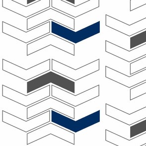 Chevron Navy Grey