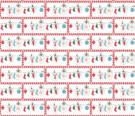 Mittens Holiday Candy Cane - Large fabric by drapestudio on Spoonflower - custom fabric