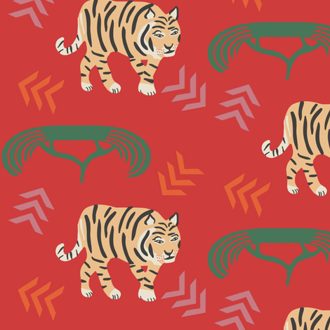 Tiger fabric by susan_polston on Spoonflower - custom fabric