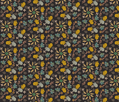 Mittens Floral fabric by susan_polston on Spoonflower - custom fabric
