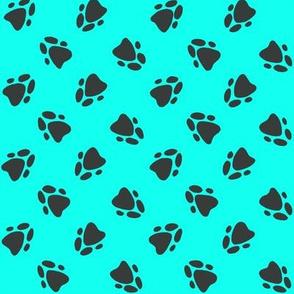 Pawprints Aqua-ed