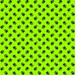 Pawprints Neon Green-ed