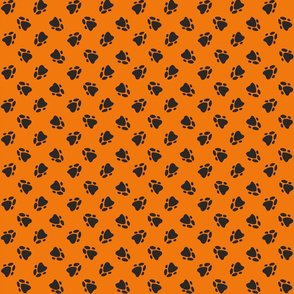 Pawprints Orange-ed